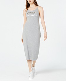 Alex Logo-Print Midi Dress