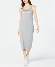 Superdry Alex Logo-Print Midi Dress