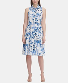 Tommy Hilfiger Monaco Floral Twill Shirtdress