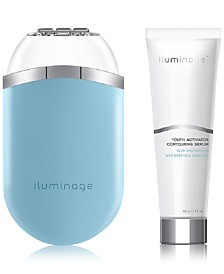 Iluminage Youth Activator Infrared LED Radio Frequency Anti-Aging Device - w/ 2 Youth Activator Contouring Serums