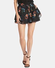 RACHEL Rachel Roy Bellarosa Ruffled Floral-Print Shorts