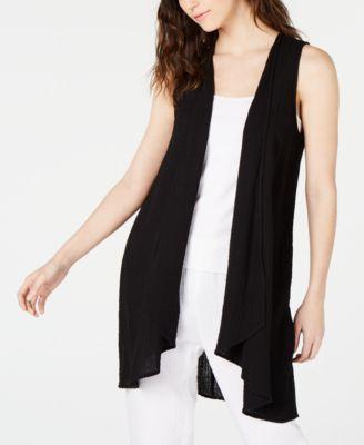 Organic Cotton Open-Front Vest