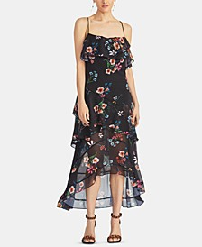 Luce Floral Ruffled High-Low Dress