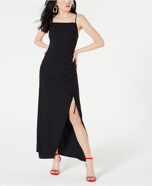Material Girl Juniors' Side-Slit Maxi Dress, Created for Macy's