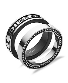 Diesel Men's Stackable Stainless Steel Ring
