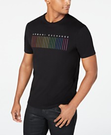 A|X Armani Exchange Men's Pride Rainbow Logo Graphic T-Shirt