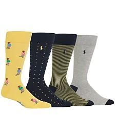 Polo Ralph Lauren Men's 4-Pk. Golfer Bears Socks