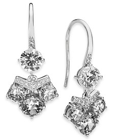 Eliot Danori Gold-Tone Crystal Cluster Drop Earrings, Created for Macy's