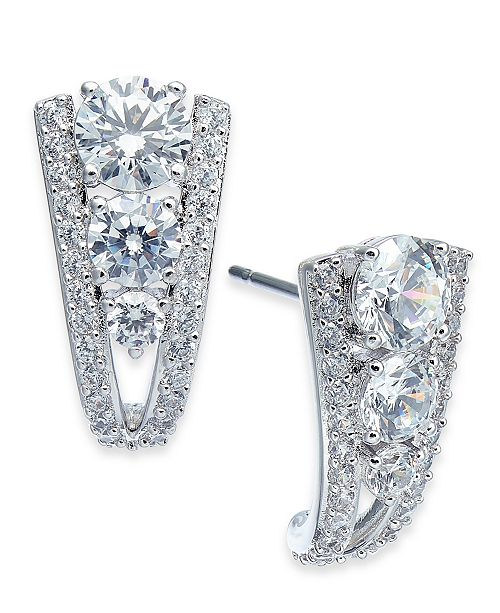 Eliot Danori Crystal Curved Drop Earrings, Created for Macy's