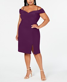 Morgan & Company Plus Size Off-The-Shoulder Dress