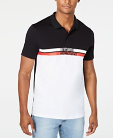 A|X Armani Exchange Men's Colorblocked Stripe Logo-Print Polo Created For Macy's