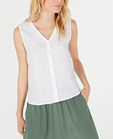 Organic Linen Shirt, Regular & Petite