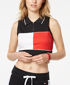 Tommy Hilfiger Cropped Colorblocked Polo Shirt