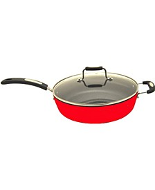 "The Rock 11"" Deep Fry Pan with Lid"