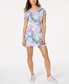Ideology Hibiscus-Print Keyhole Tunic, Created for Macy's