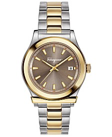 Ferragamo Men's Swiss 1898 Two-Tone Stainless Steel Bracelet Watch 40mm