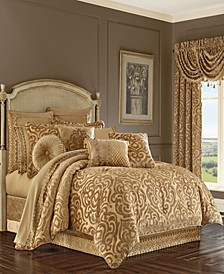 J Queen Sicily Gold King Comforter Set