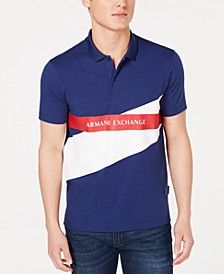 Men's Colorblocked Logo-Print Polo   Created For Macy's