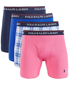 Men's 4-Pk. Knit Cotton Boxers