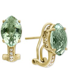 EFFY® Green Quartz (5-7/8 ct. t.w.) & Diamond Accent Drop Earrings in 14k Gold