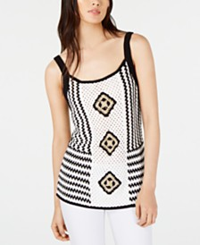 I.N.C. Crocheted Sleeveless Top, Created for Macy's