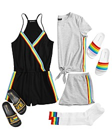 I.N.C. Rainbow Pajama, Socks & Slipper Separates, Created for Macy's