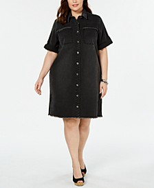 Plus Size Denim Shirtdress, Created for Macy's
