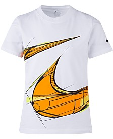 Nike Little Boys Geometric 360 Swoosh Logo T-Shirt
