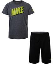 cf6ef01756 Nike Little Boys 2-Pc. Dri-FIT Logo T-Shirt & Mesh