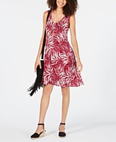 265ce2bdd Style & Co Printed Cross-Back Tank Dress, Created for Macy's