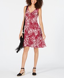 Style & Co Printed Cross-Back Tank Dress, Created for Macy's