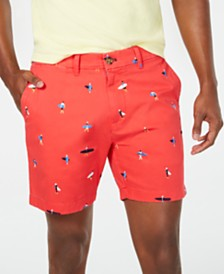 "Tommy Hilfiger Men's Surf Print 7"" Shorts"