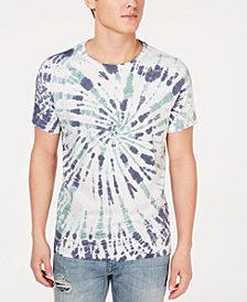 GUESS Men's Spiral Tie-Dyed T-Shirt