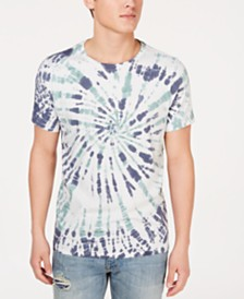 GUESS Men's Spiral Tie-Dyed T-Shirt