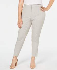Calvin Klein Plus Size Printed Ankle Pants