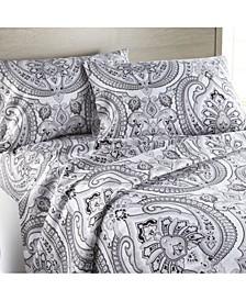 2012 Textiles Classic Paisley Ultra-Soft 4-Piece Sheet Set