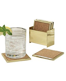 Set of 6 Brass Coasters