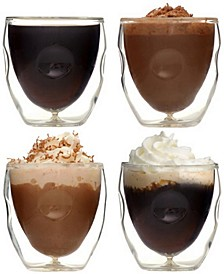 Moderna Artisan Series Double Wall 2 oz Espresso and Shot Glasses - Set of 4