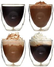 Moderna Artisan Series Double Wall 2 oz Espresso and Shot Glasses - Set of 4