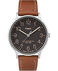 Waterbury Classic 40mm Tan Leather Strap Watch