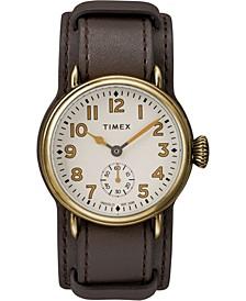 Timex Welton Cuff Bronze Case 38mm Leather Strap Watch