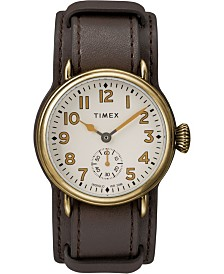 Timex Welton Cuff Bronze Case 38mm Leather Strap Watch