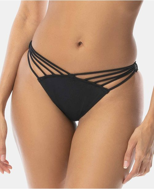 SUNDAZED Lacy Strappy Cheeky Hipster Bikini Bottoms, Created for Macy's