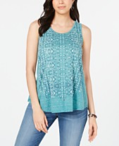 89a904dea34 Style & Co Printed Swing Tank Top, Created for Macy's