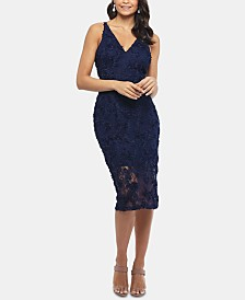XSCAPE Lace Midi Dress