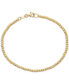 Beaded Bracelet in 14k Gold