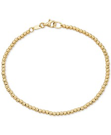 Italian Gold Beaded Bracelet in 14k Gold