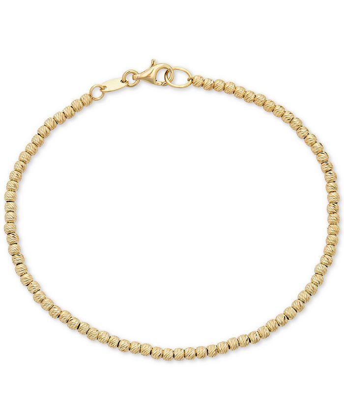 Italian Gold - Beaded Bracelet in 14k Gold