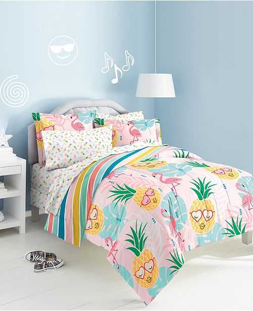 Dream Factory Pineapple Twin Bed-in-a-Bag