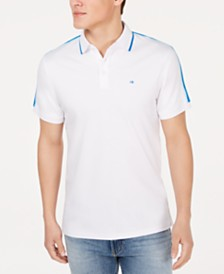 Calvin Klein Men's Tipped Liquid Touch Polo